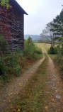 The road next to the old barn